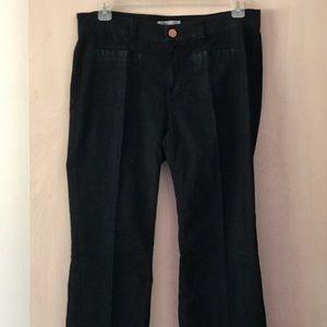 CAbi Farrah Jeans Dark Trouser Flared EUC